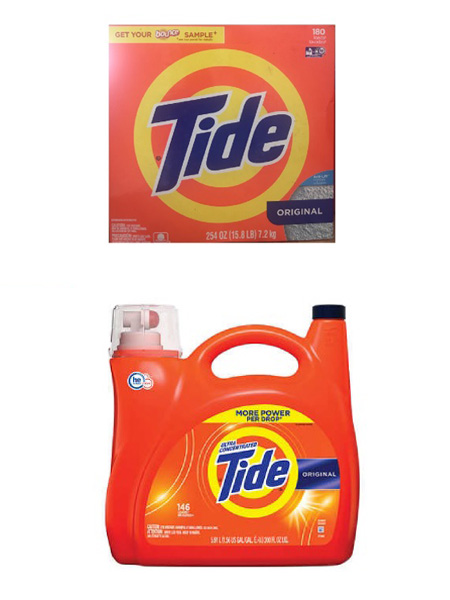 Bột giặt thử nghiệm – bột giặt tiêu chuẩn TIDE