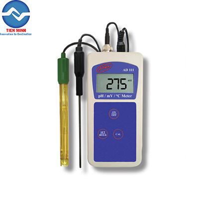 Máy đo pH, mV và nhiệt độ cầm tay AD111