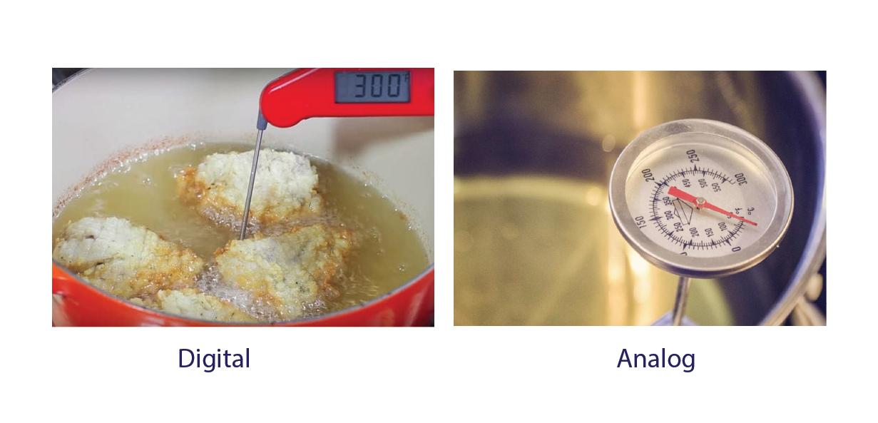 Máy đo nhiệt độ dầu chiên analog và digital