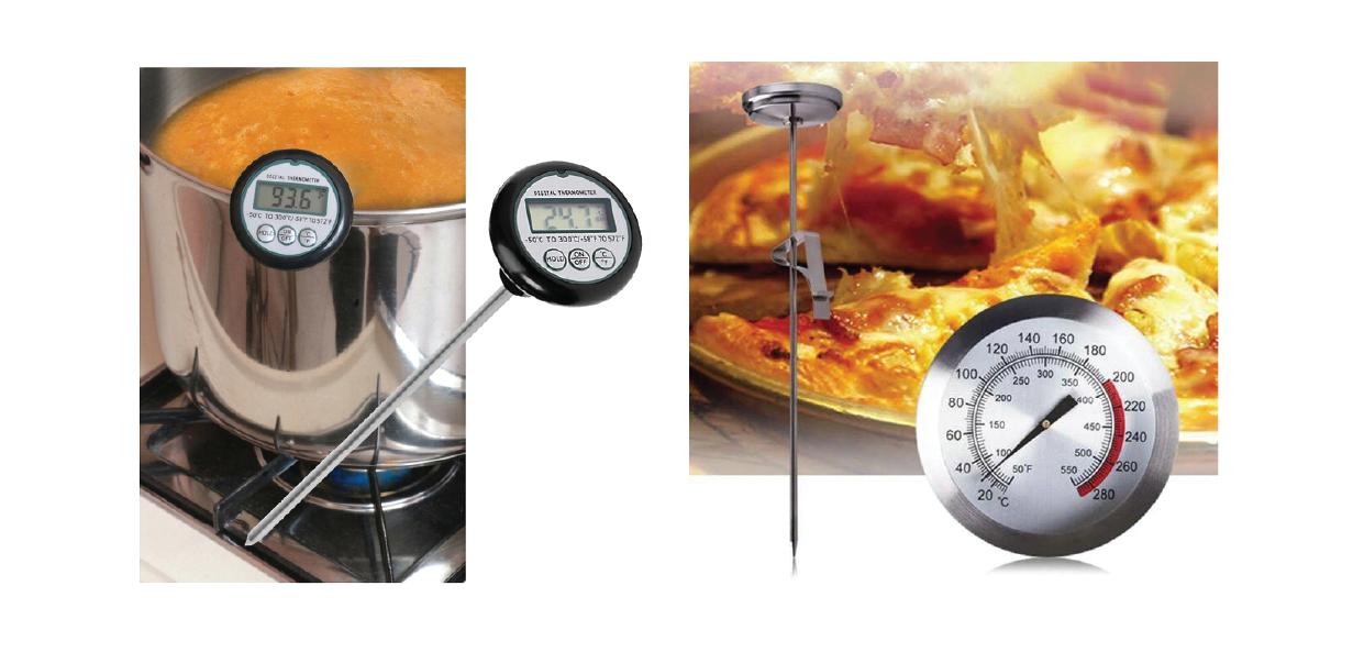 Màn hình hiển thị của máy đo nhiệt độ dầu chiên