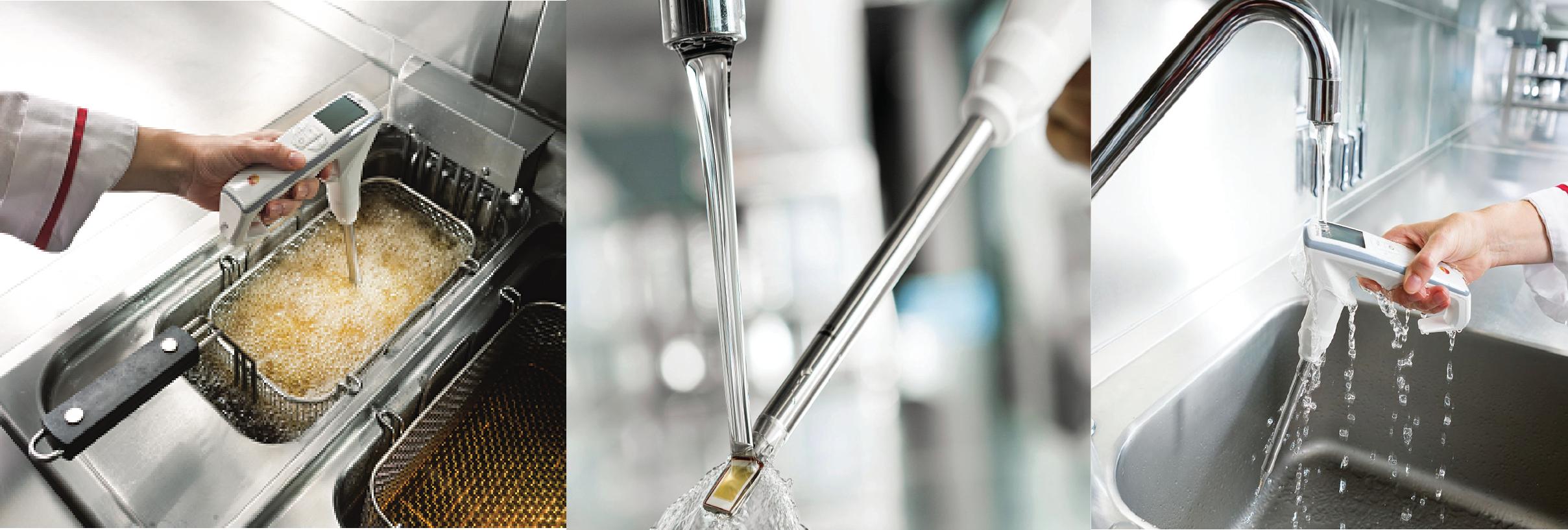 Vệ sinh máy đo nhiệt độ dầu chiên